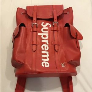 LV Supreme Backpack  (RED) TEXT (702) 867-0280‼️‼️
